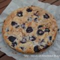 Kersen en chocolate chip blondies
