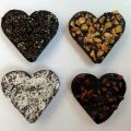 Raw chocolate hearts